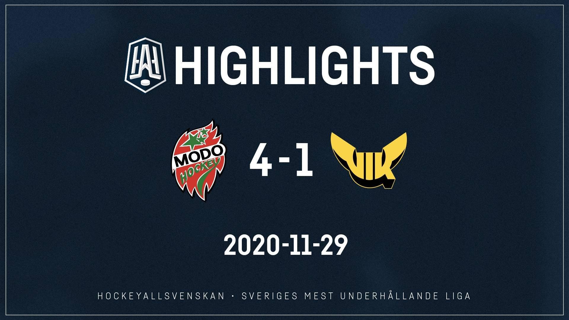 2020-11-29 MODO - Västerås 4-1