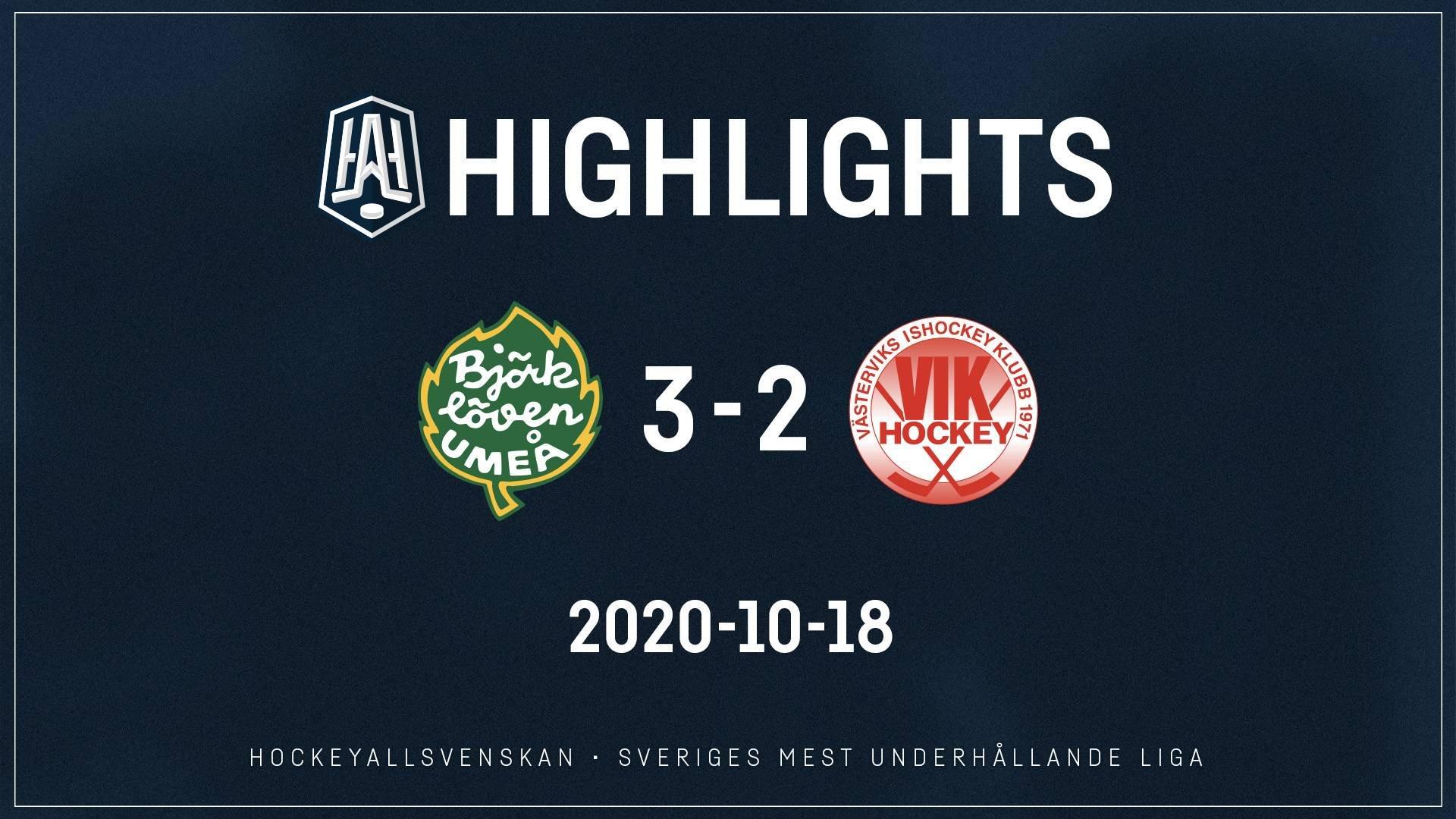 2020-10-18 Björklöven - Västervik 3-2