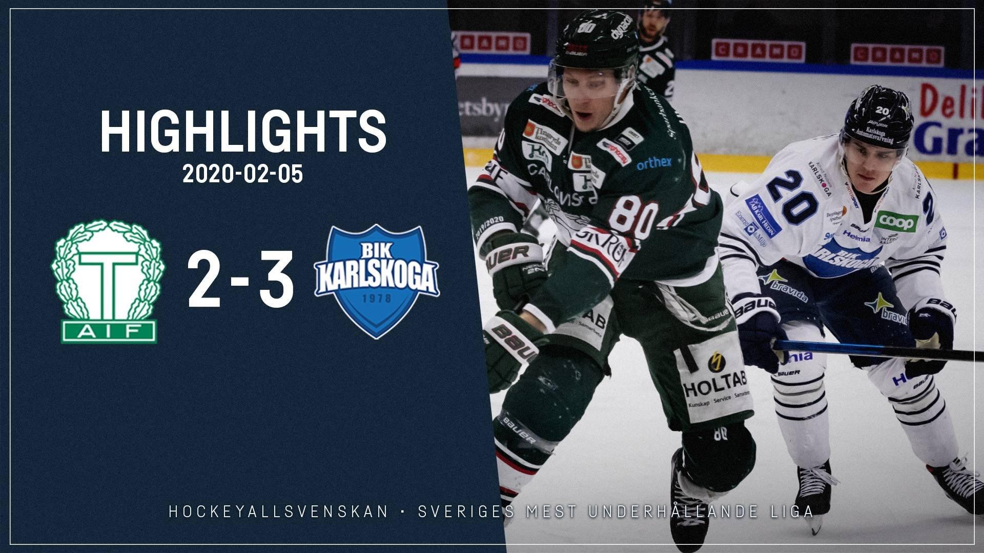 2020-02-05 Tingsryd - Karlskoga 2-3