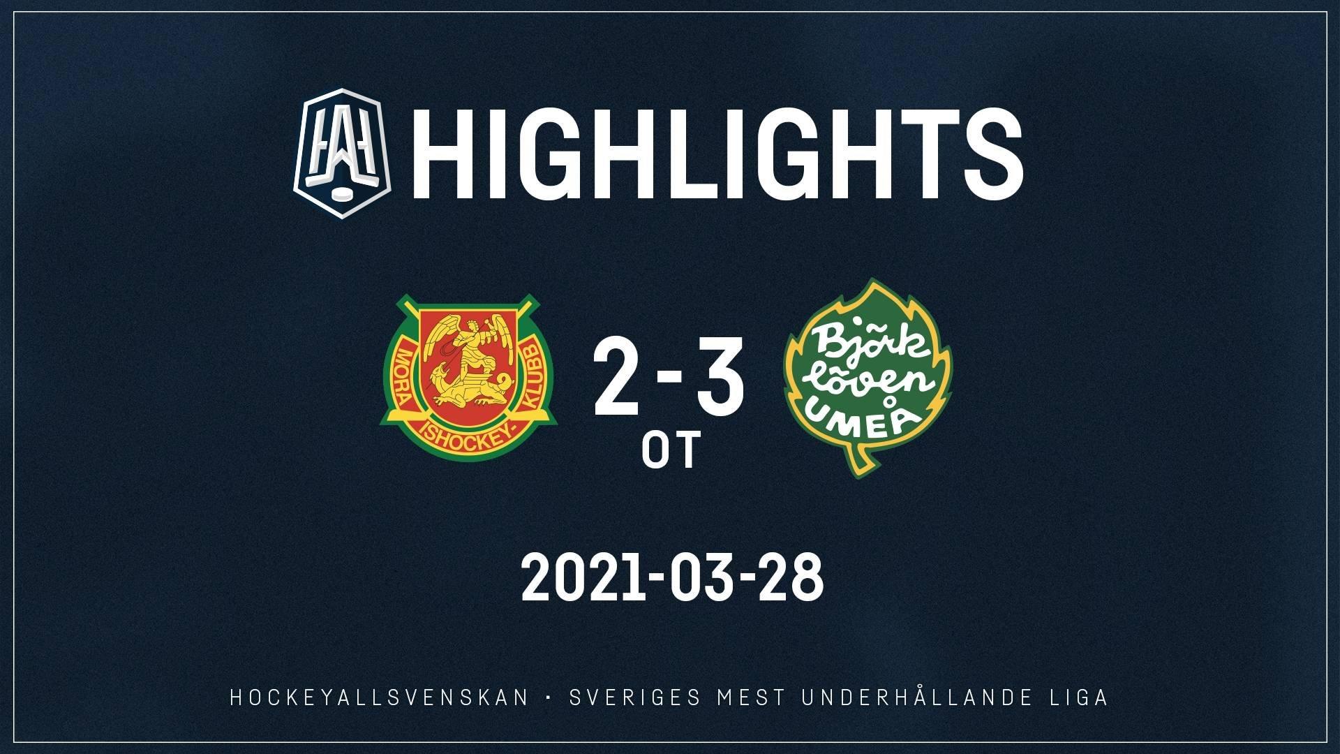 2021-03-29 Mora - Björklöven 2-3 (OT)