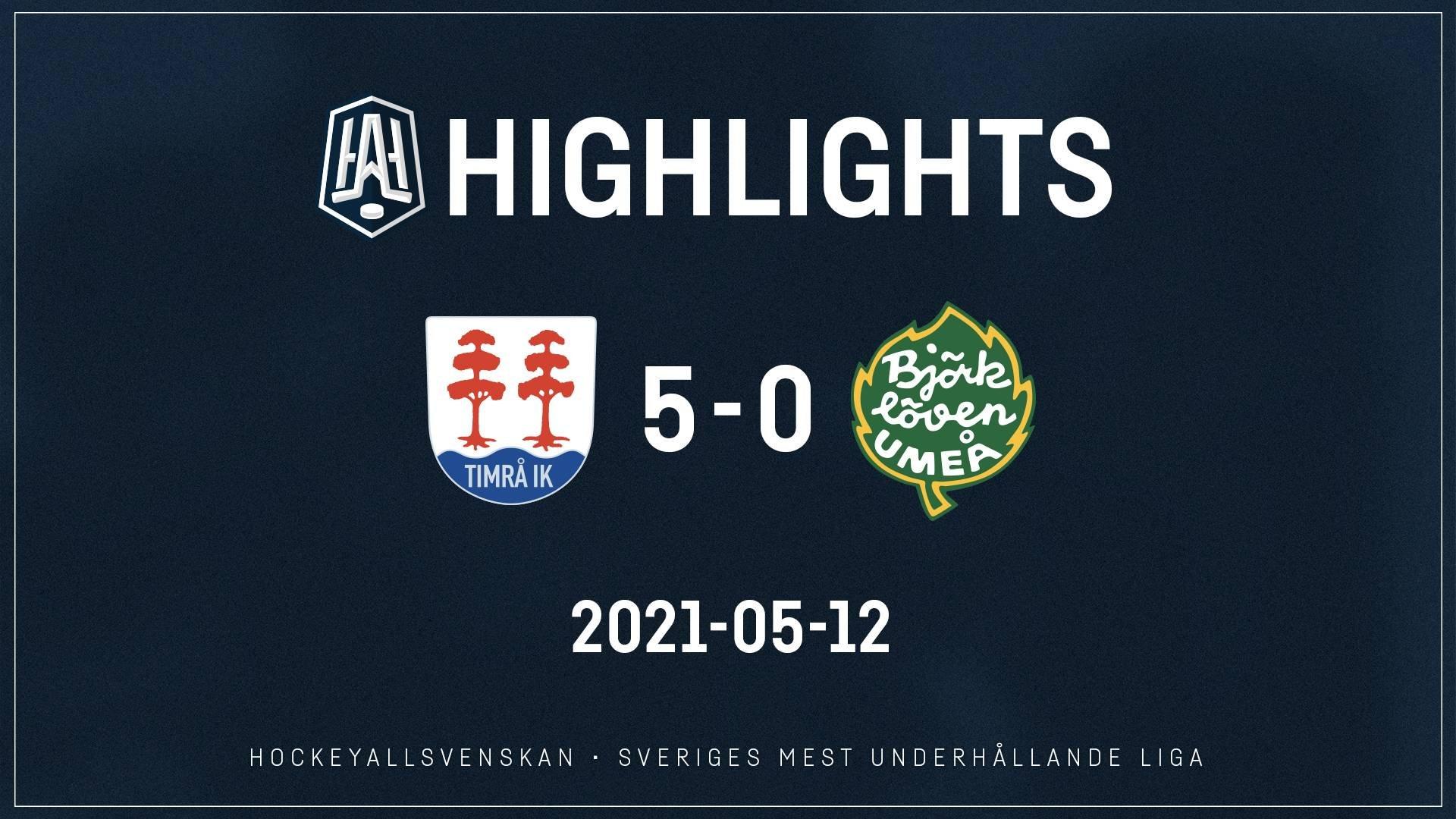 2021-05-12 Timrå - Björklöven 5-0