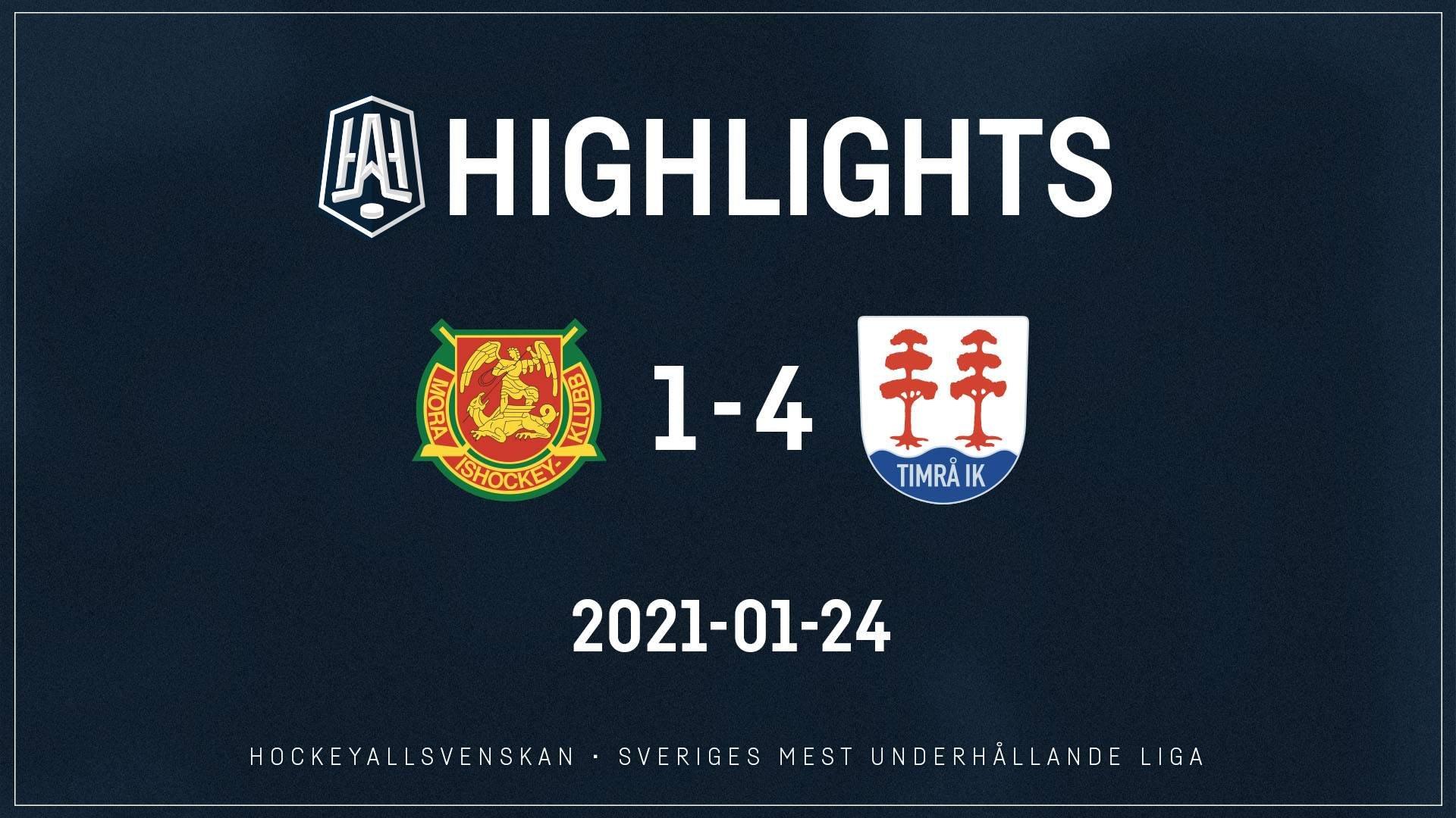 2021-01-24 Mora - Timrå 1-4
