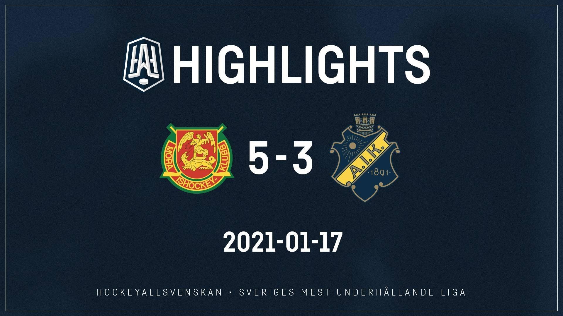2021-01-17 Mora - AIK 5-3