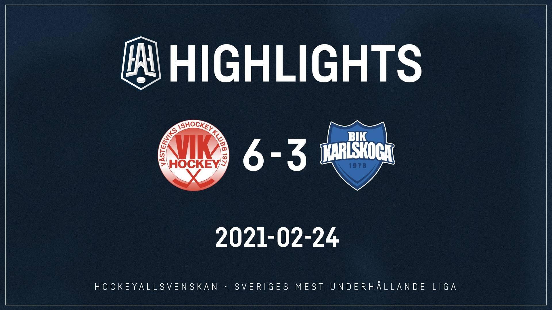 2021-02-24 Västervik - Karlskoga 6-3