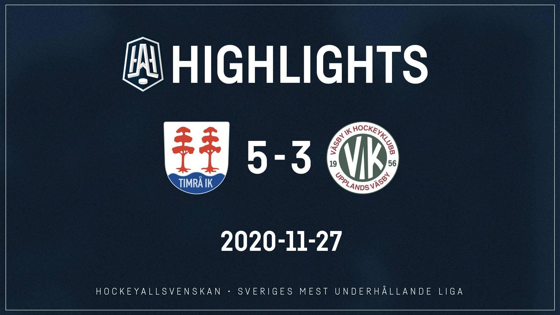 2020-11-27 Timrå - Väsby 5-3