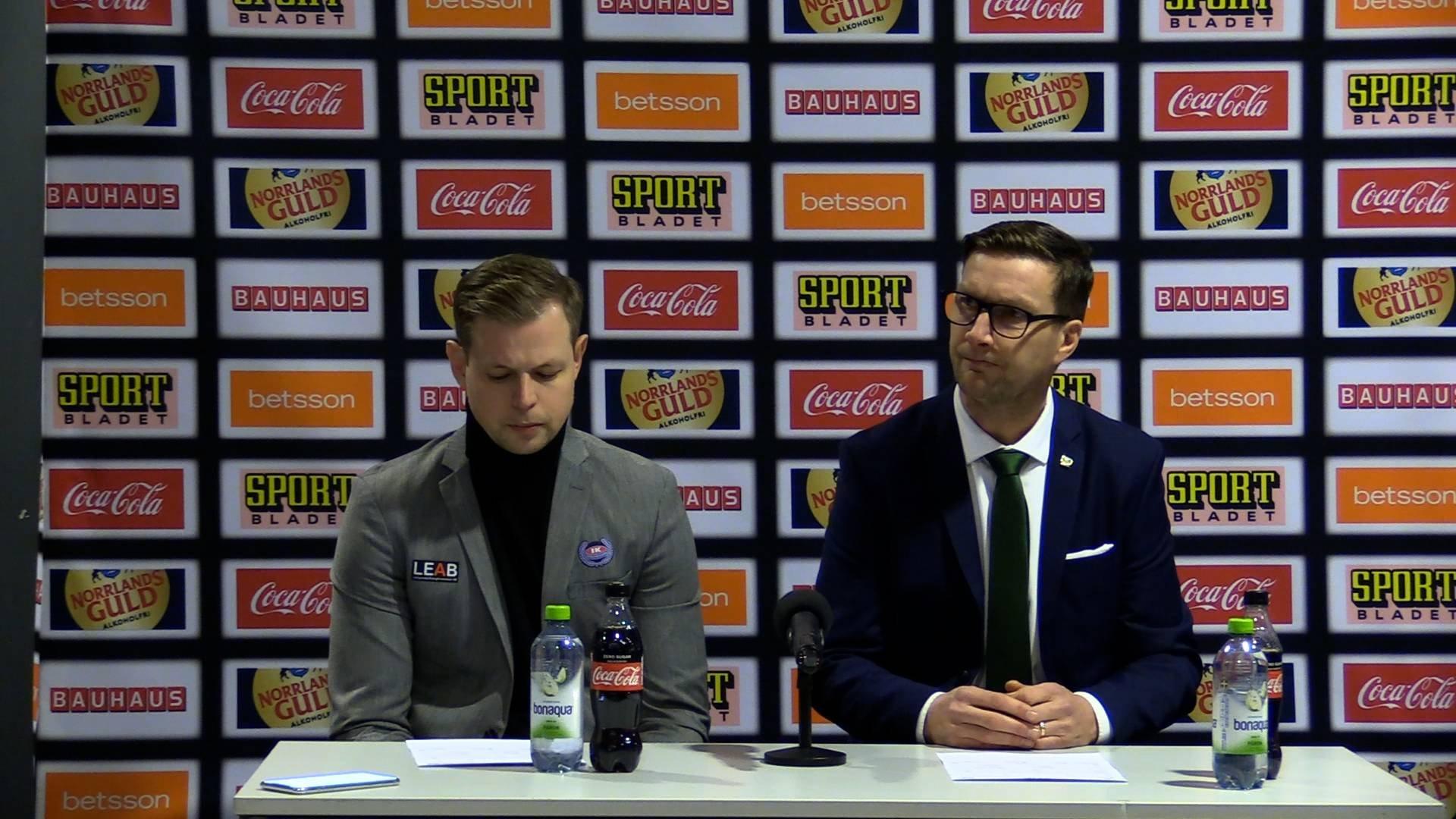 Presskonferens efter Färjestad BK-IK Oskarshamn