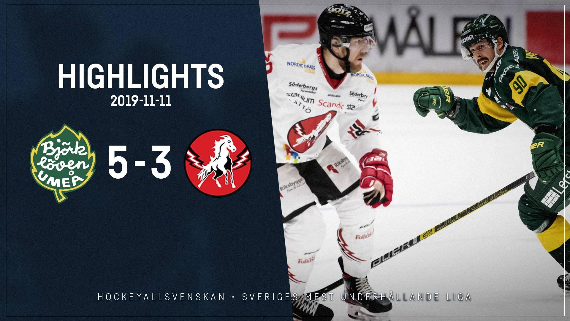 2019-11-11 Björklöven - Vita Hästen 5-3