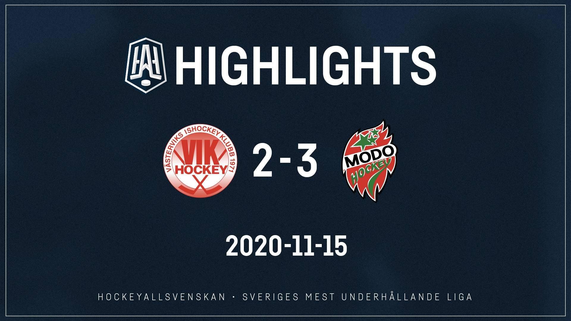 2020-11-15 Västervik - MODO 2-3