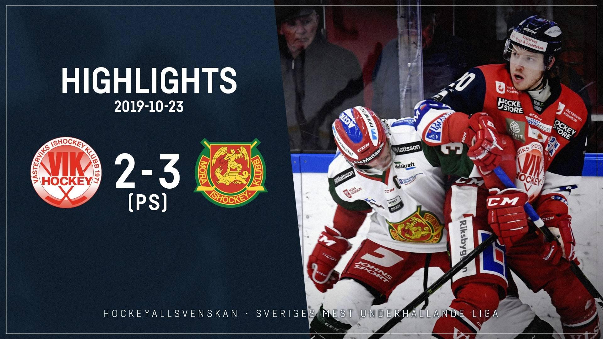 2019-10-23 Västervik - Mora 2-3 (PS)