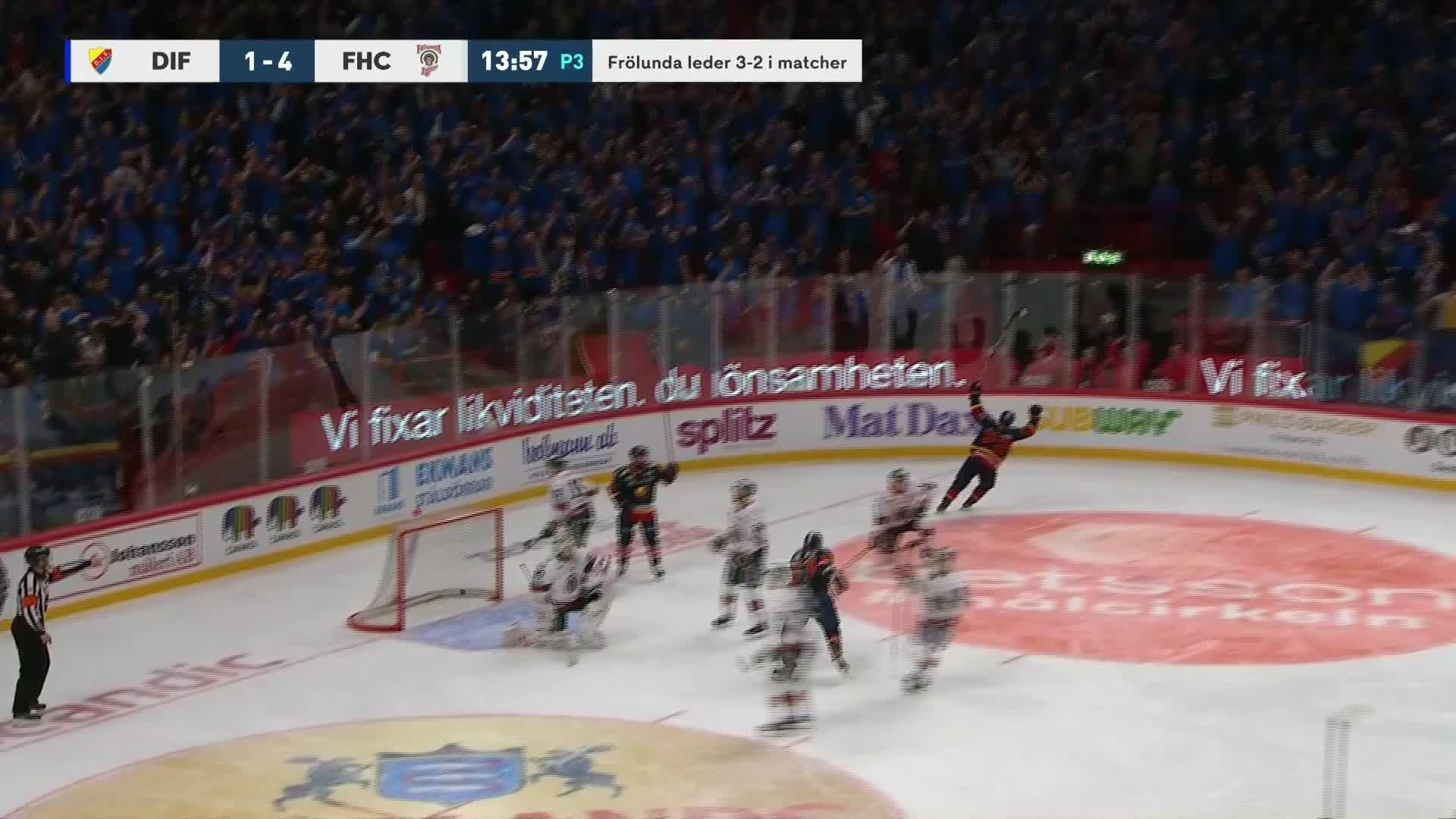 Djurgården Hockey - Frölunda HC 2-4