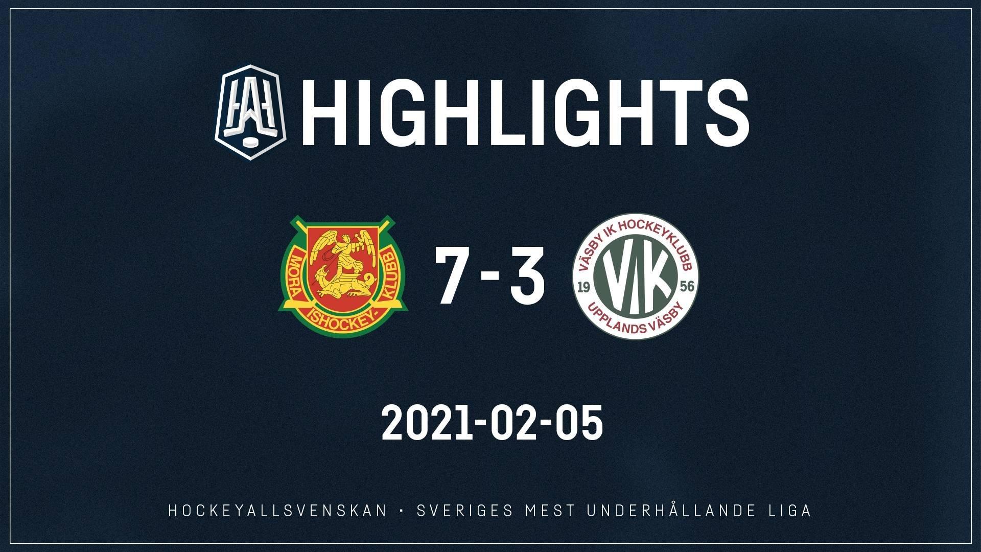 2021-02-05 Mora - Väsby 7-3
