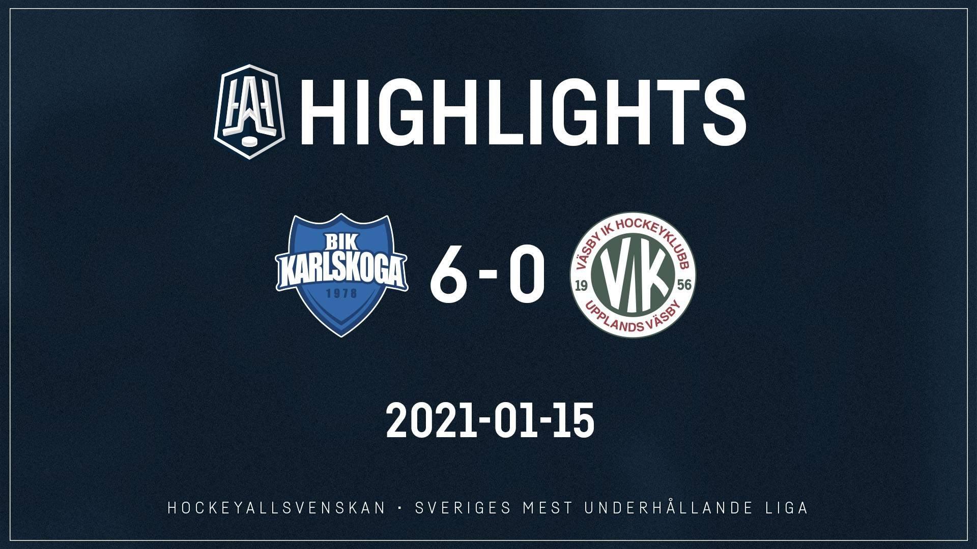 2021-01-15 Karlskoga - Väsby 6-0