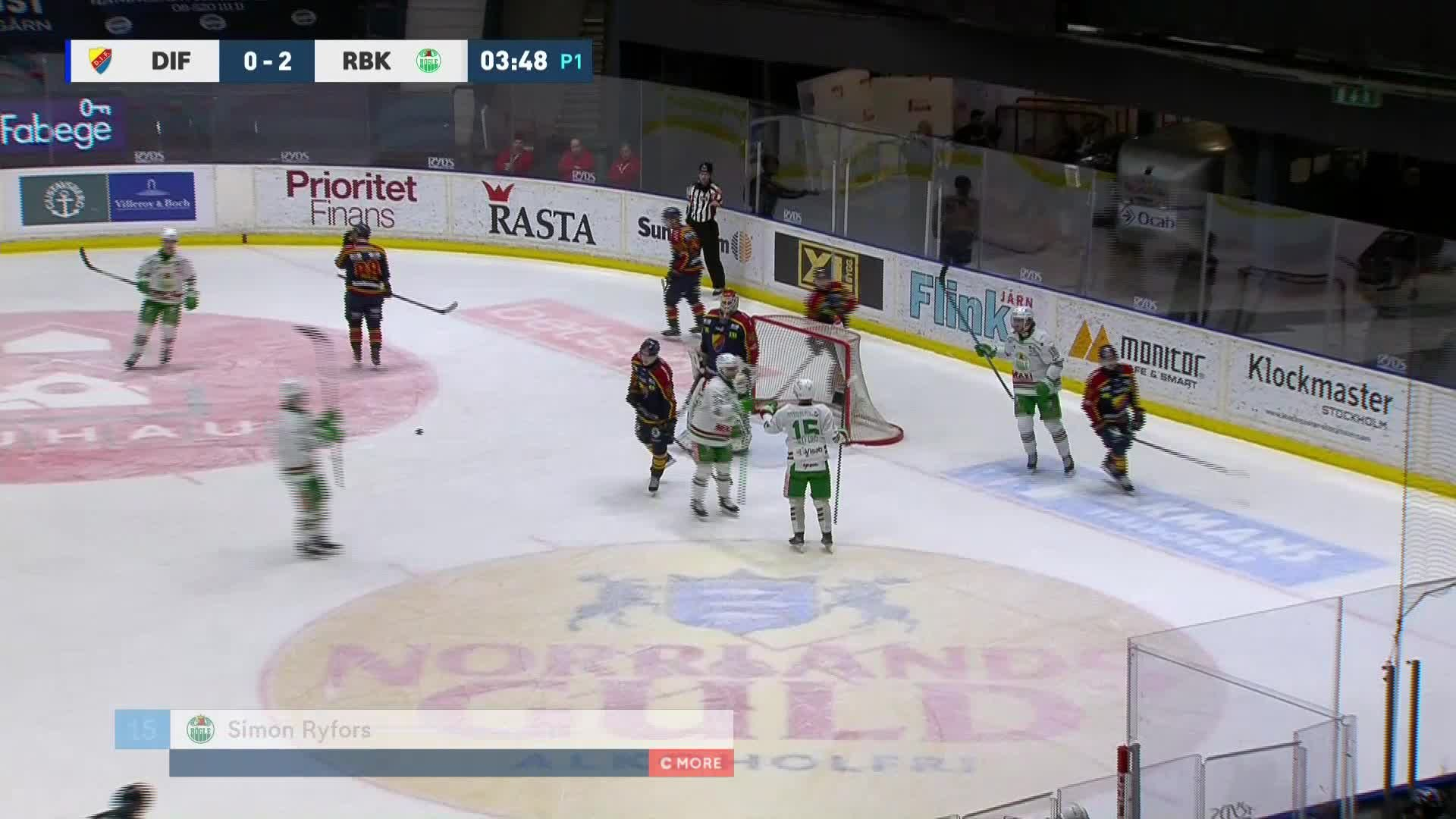 Djurgården Hockey - Rögle BK 0-3