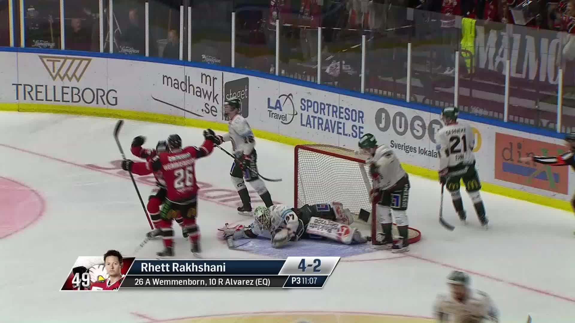 Malmö Redhawks - Frölunda HC 4-2