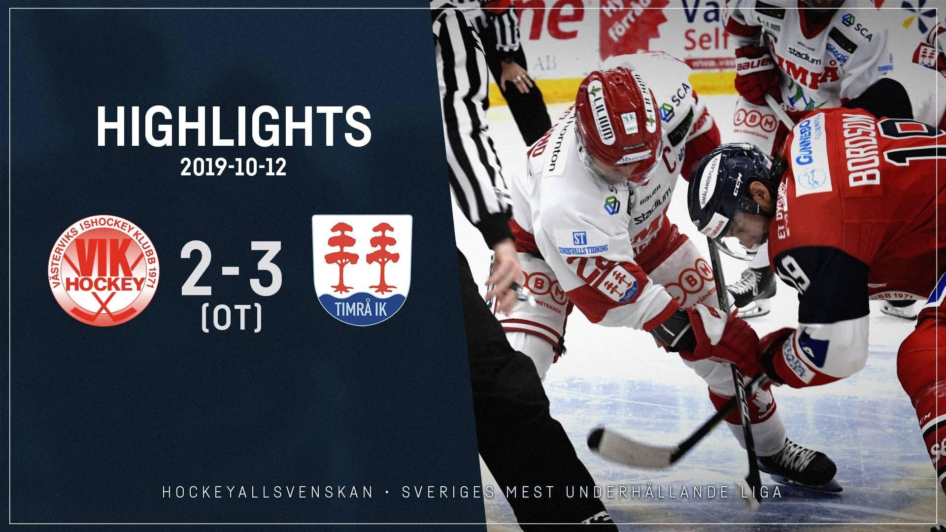 2019-10-12 Västervik - Timrå 2-3 (OT)