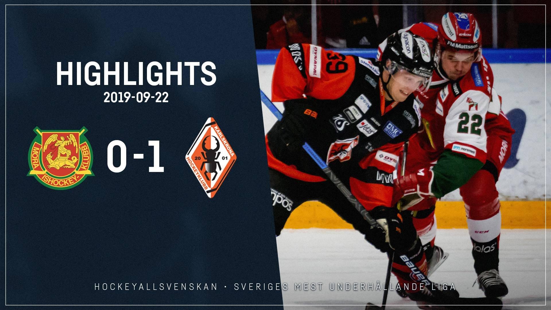 2019-09-22 Mora-Karlskrona 0-1