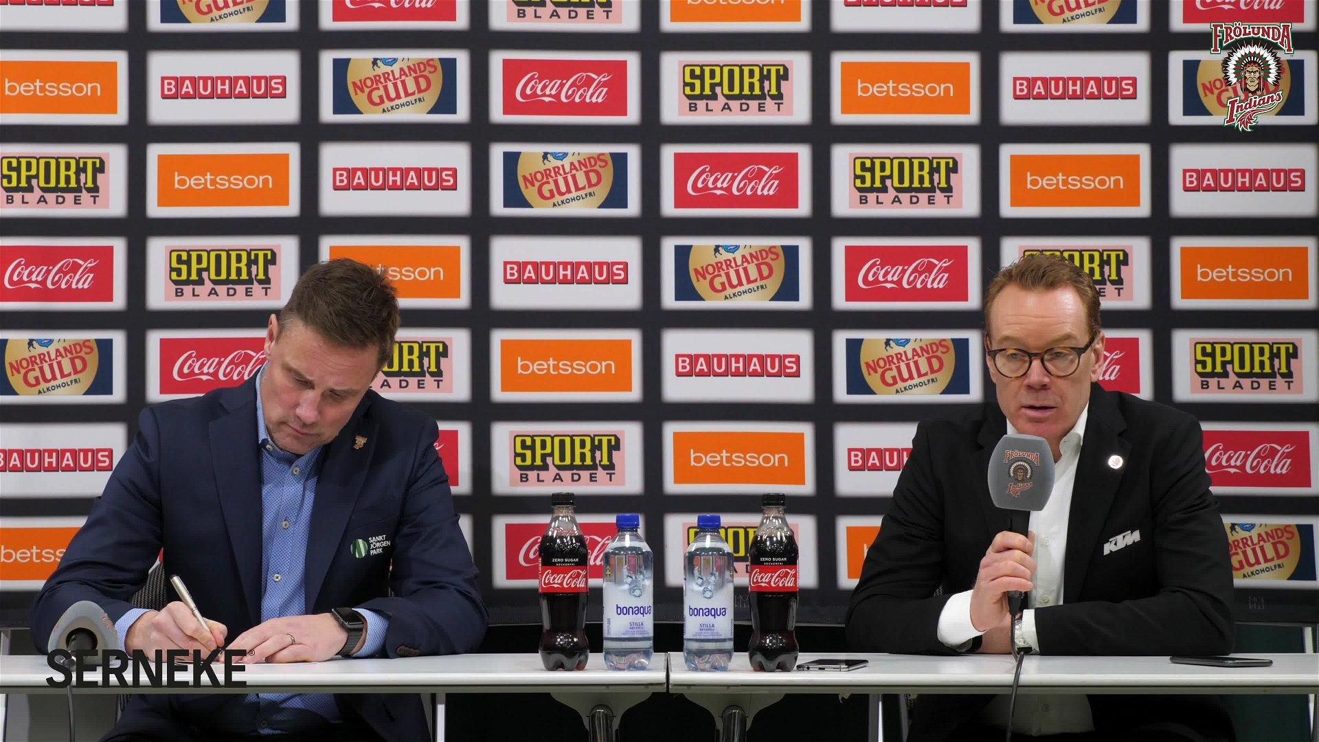 Presskonferensen efter Frölunda – Örebro