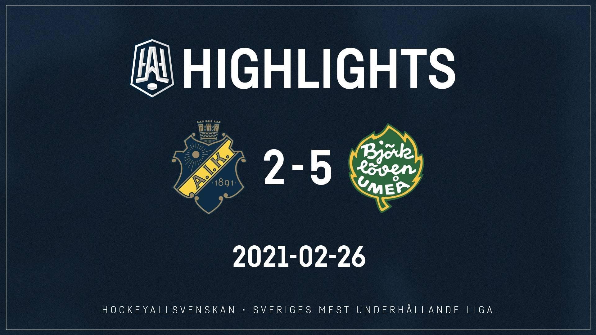 2021-02-26 AIK - Björklöven 2-5