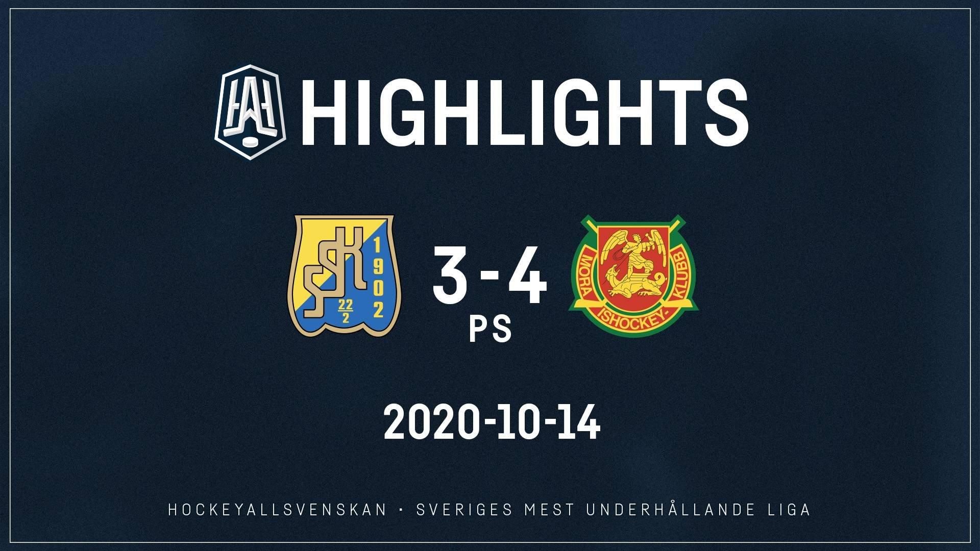 2020-10-14 Södertälje - Mora 3-4 (PS)