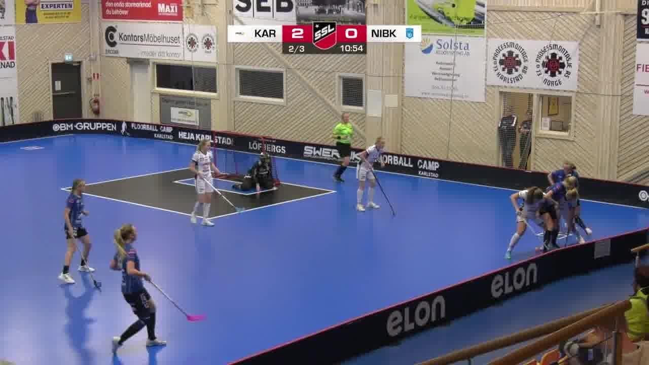 Highlights: Karlstad Innebandy - Nacka Wallenstam IBK