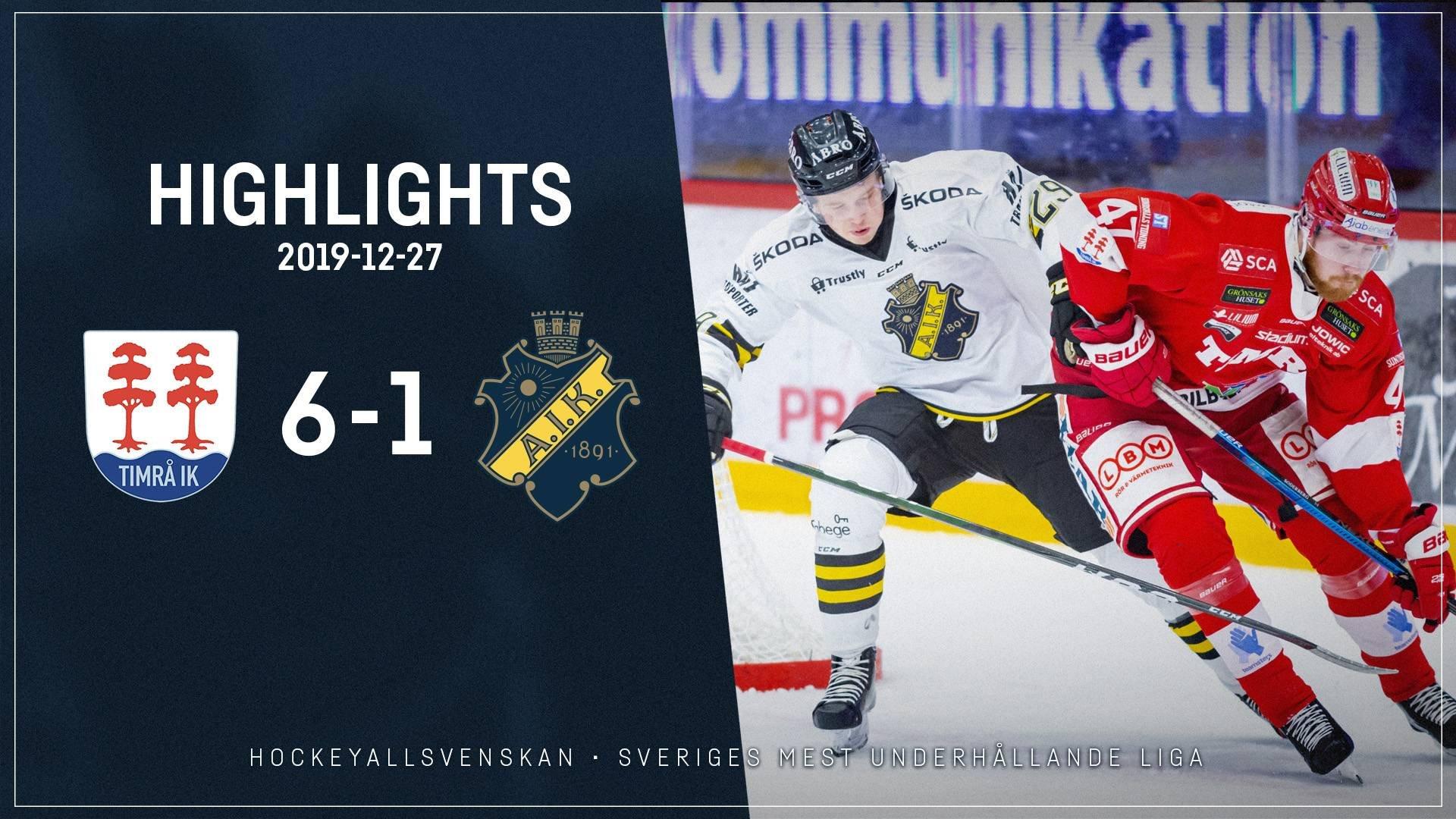 2019-12-27 Timrå - AIK 6-1