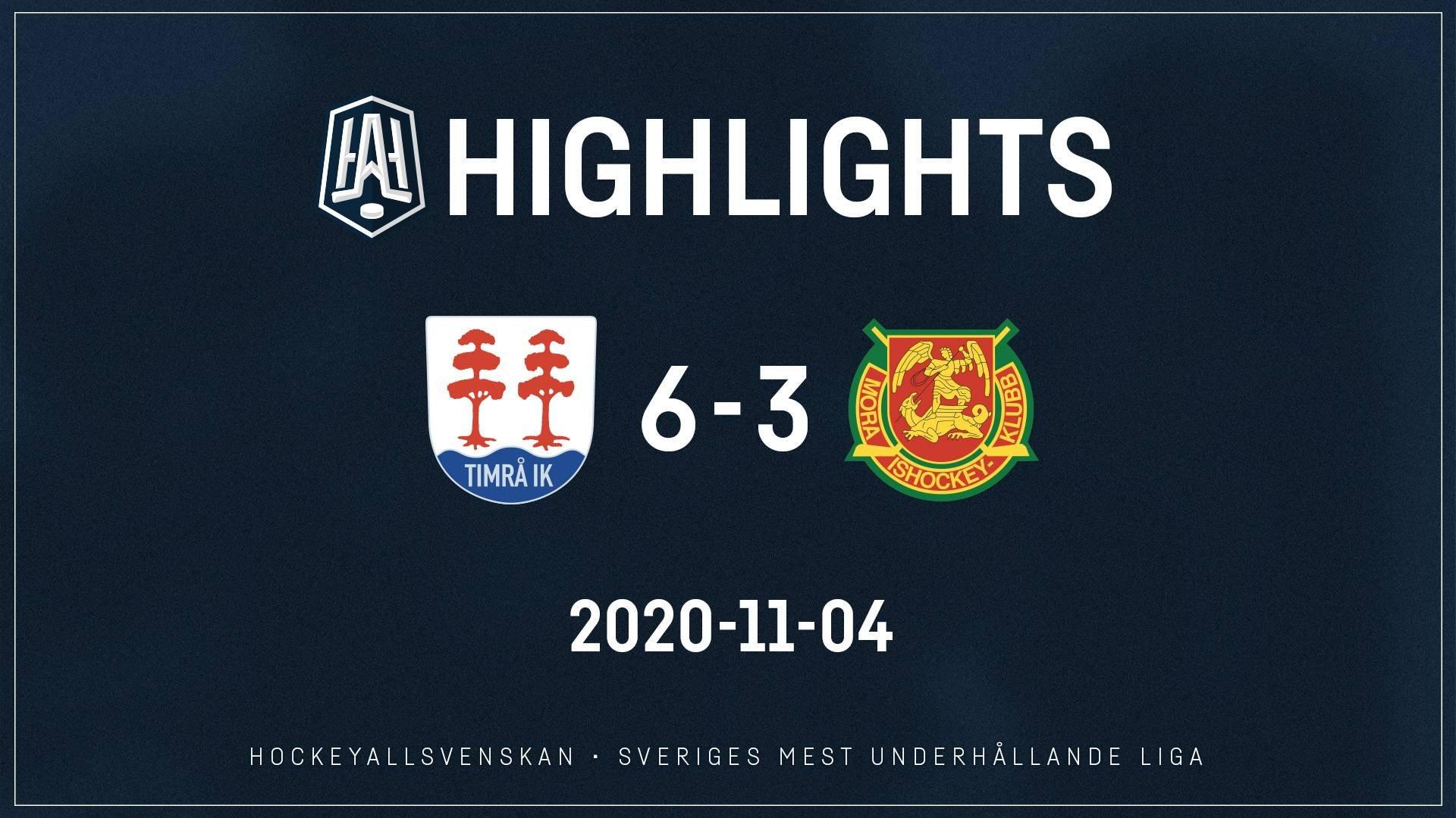 2020-11-04 Timrå - Mora 6-3