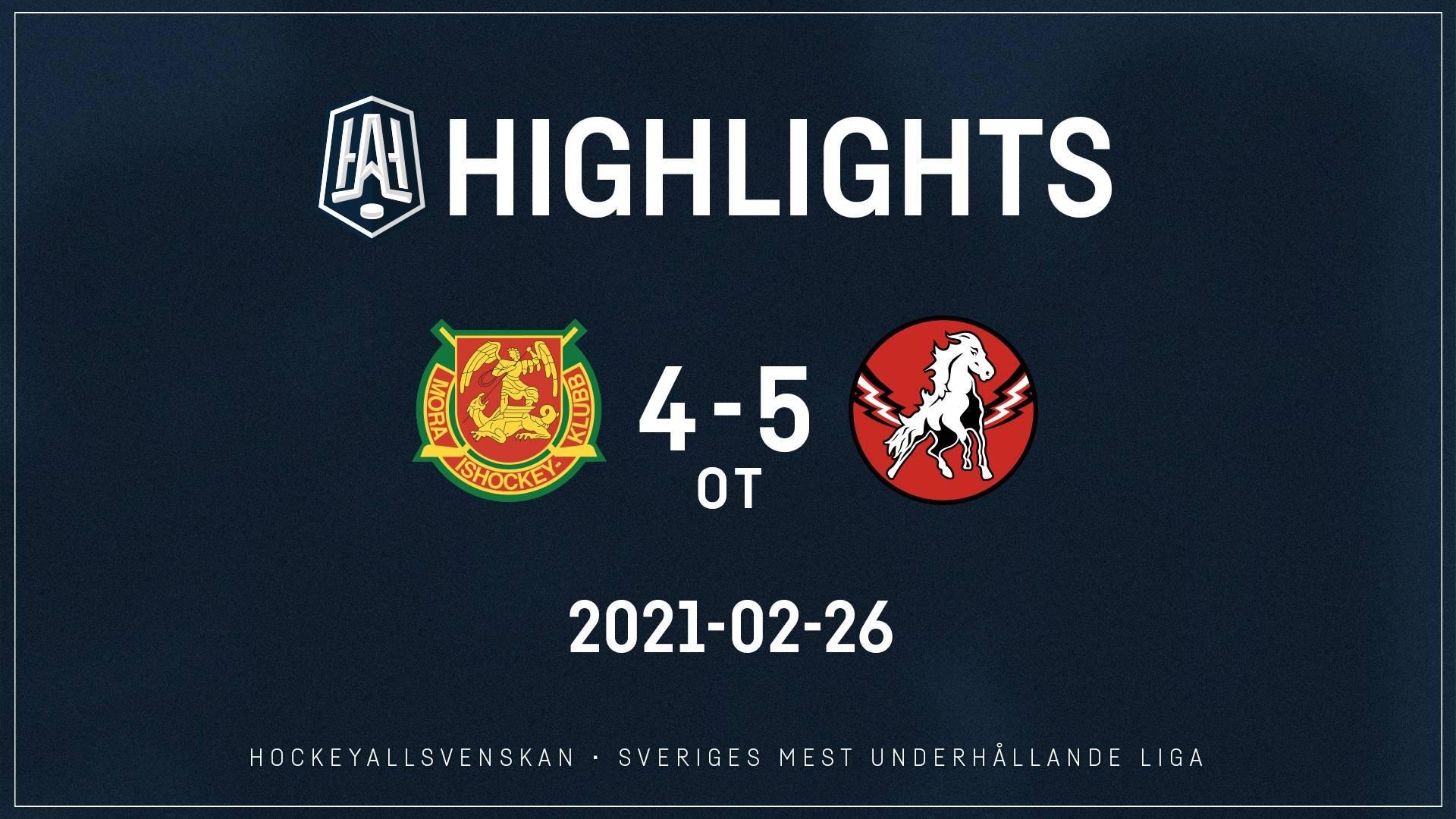 2021-02-26 Mora - Vita Hästen 4-5 (OT)