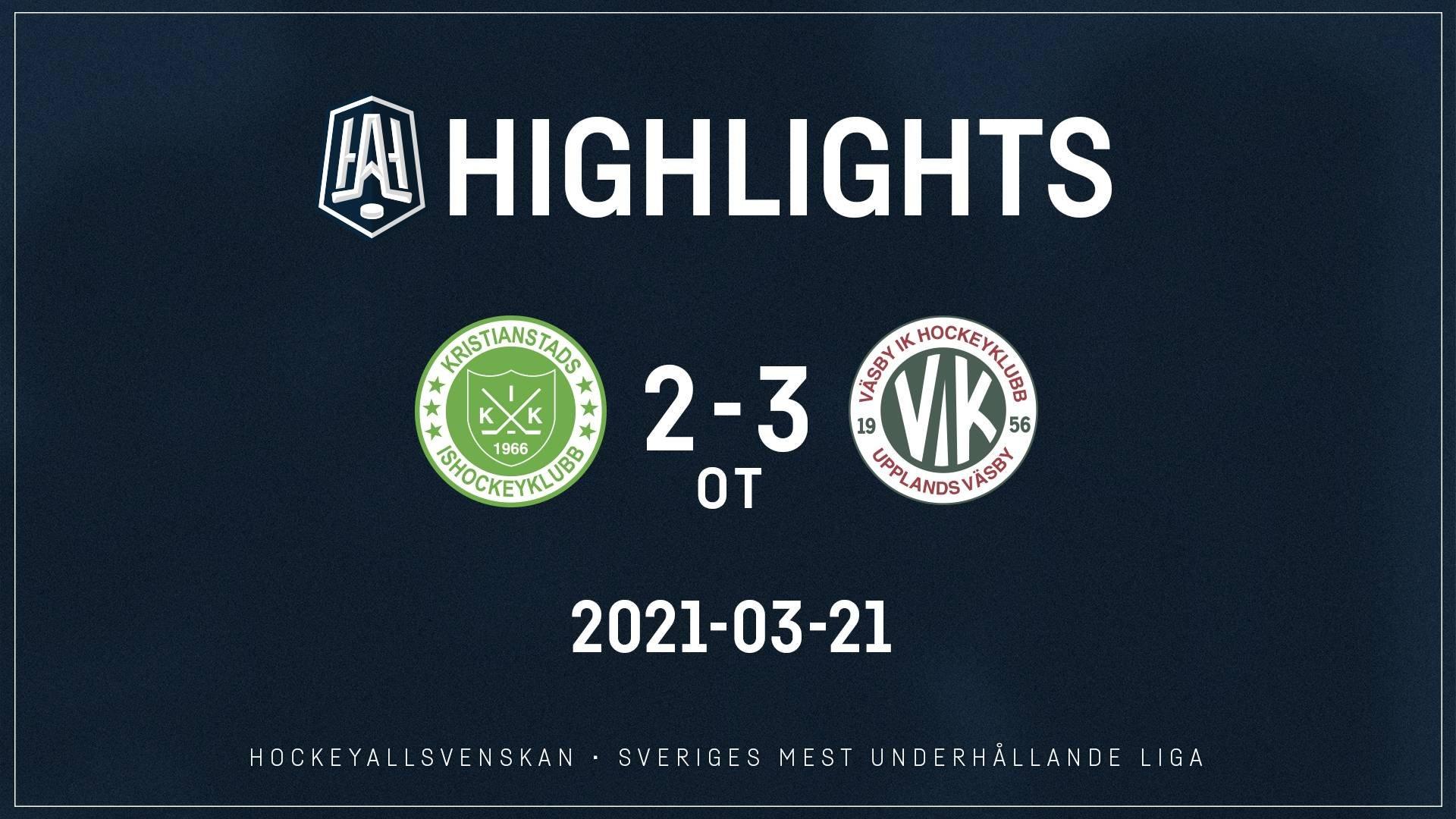 2021-03-21 Kristianstad - Väsby 2-3 (OT)
