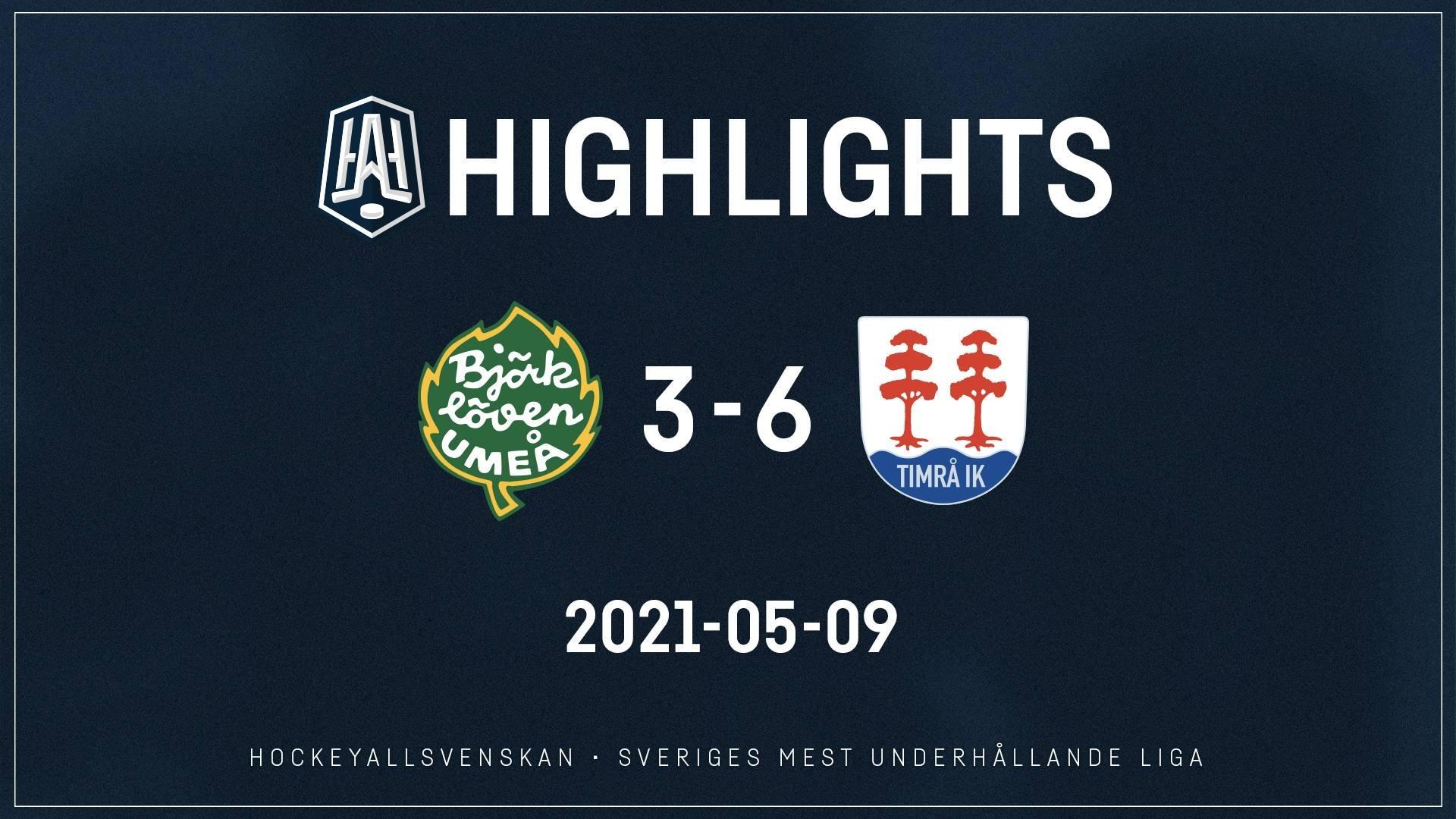 2021-05-09 Björklöven - Timrå 3-6