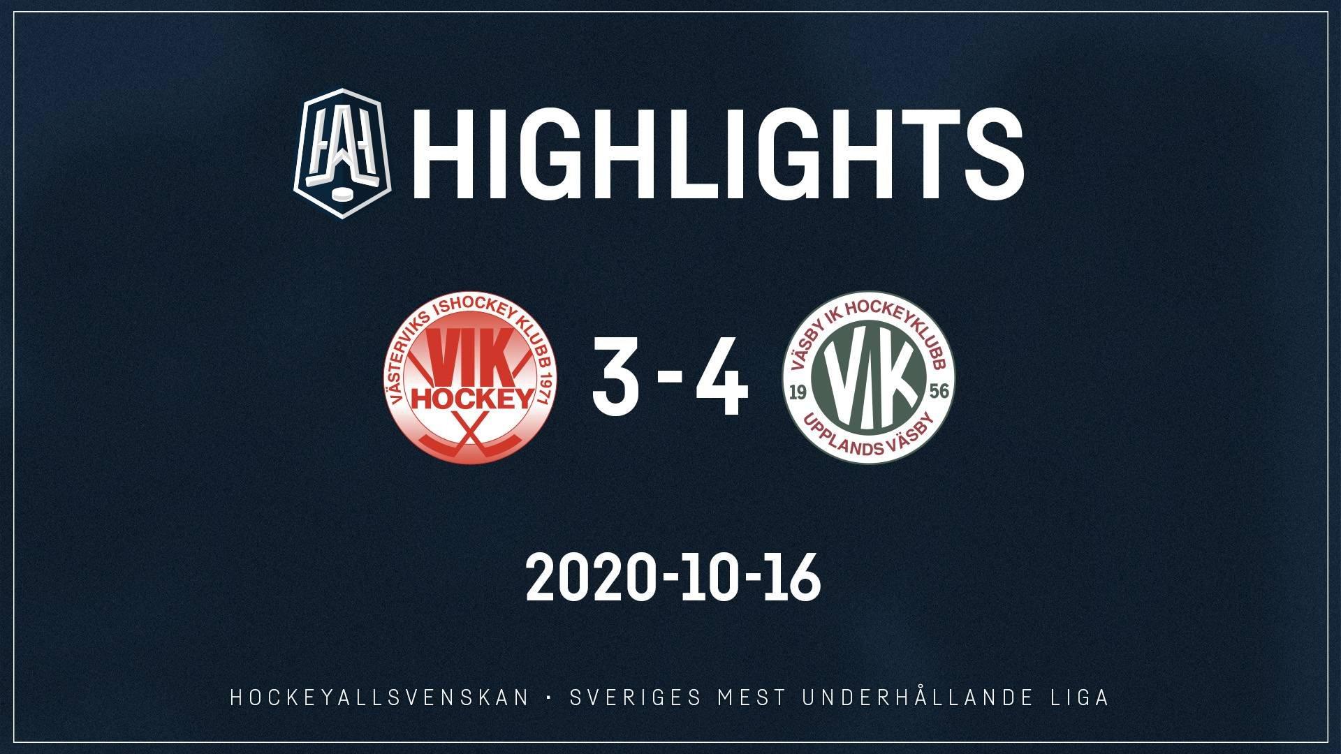 2020-10-16 Västervik - Väsby 3-4