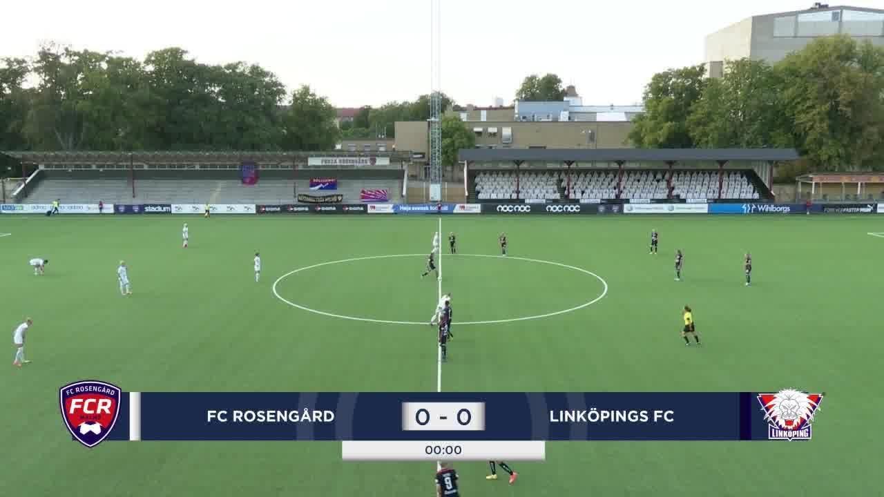 Highlights: Rosengård - Linköping 12 aug