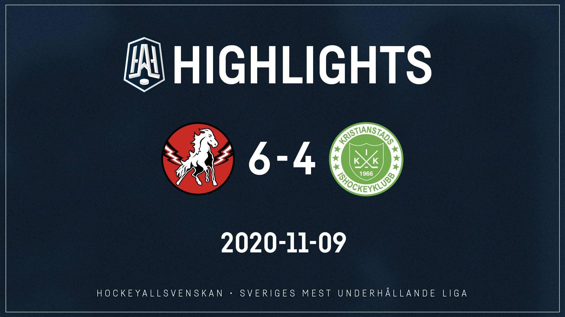 2020-11-09 Vita Hästen - Kristianstad 6-4