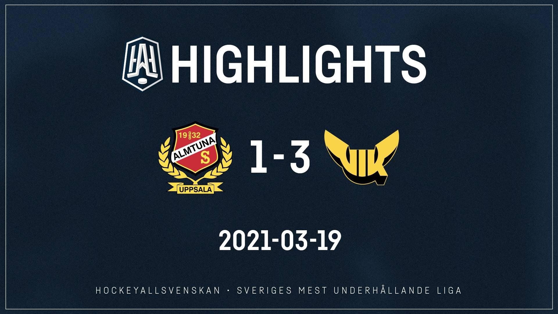 2021-03-19 Almtuna - Västerås 1-3