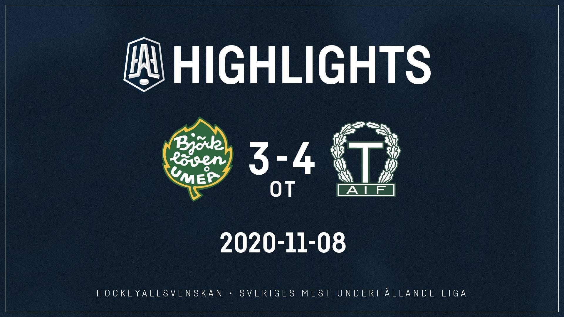 2020-11-08 Björklöven - Tingsryd 3-4 (OT)
