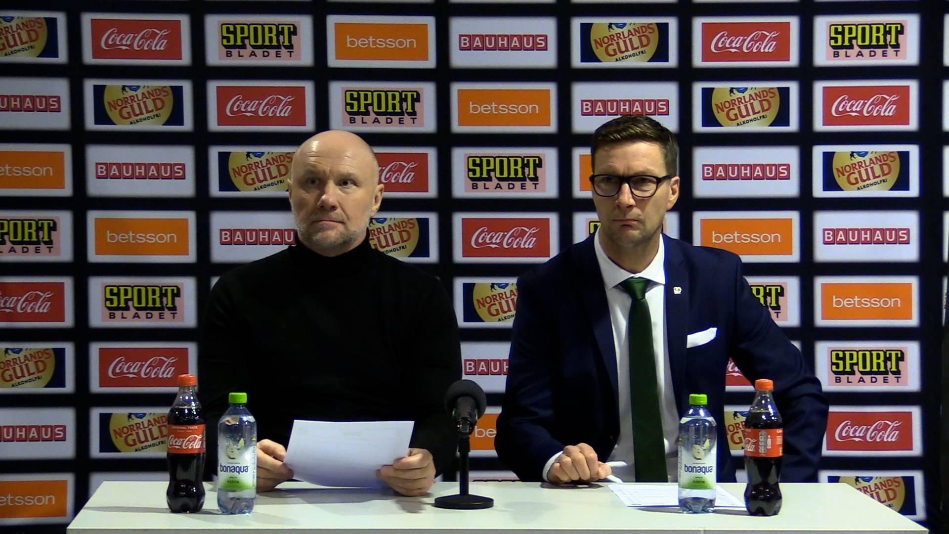 Presskonferens efter Färjestad-Brynäs