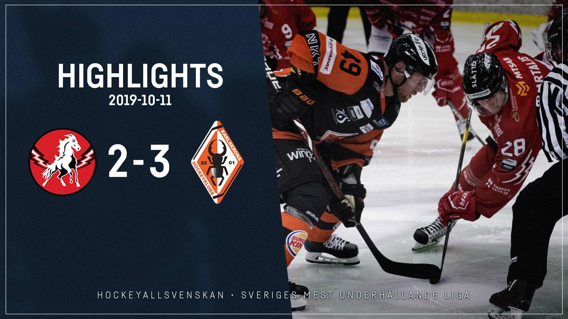 2019-10-11 Vita Hästen - Karlskrona 2-3