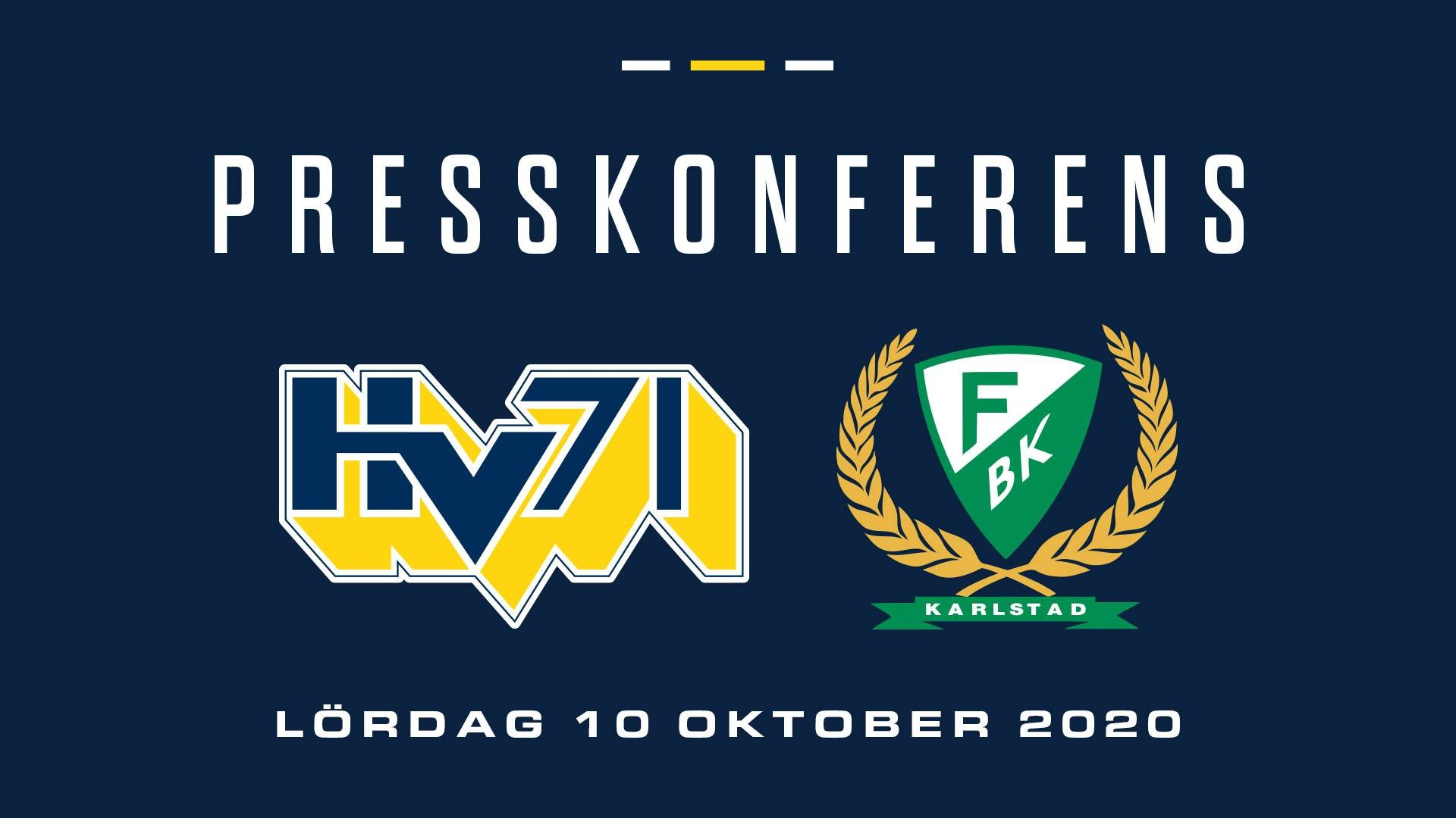 Presskonferens HV71-Färjestad