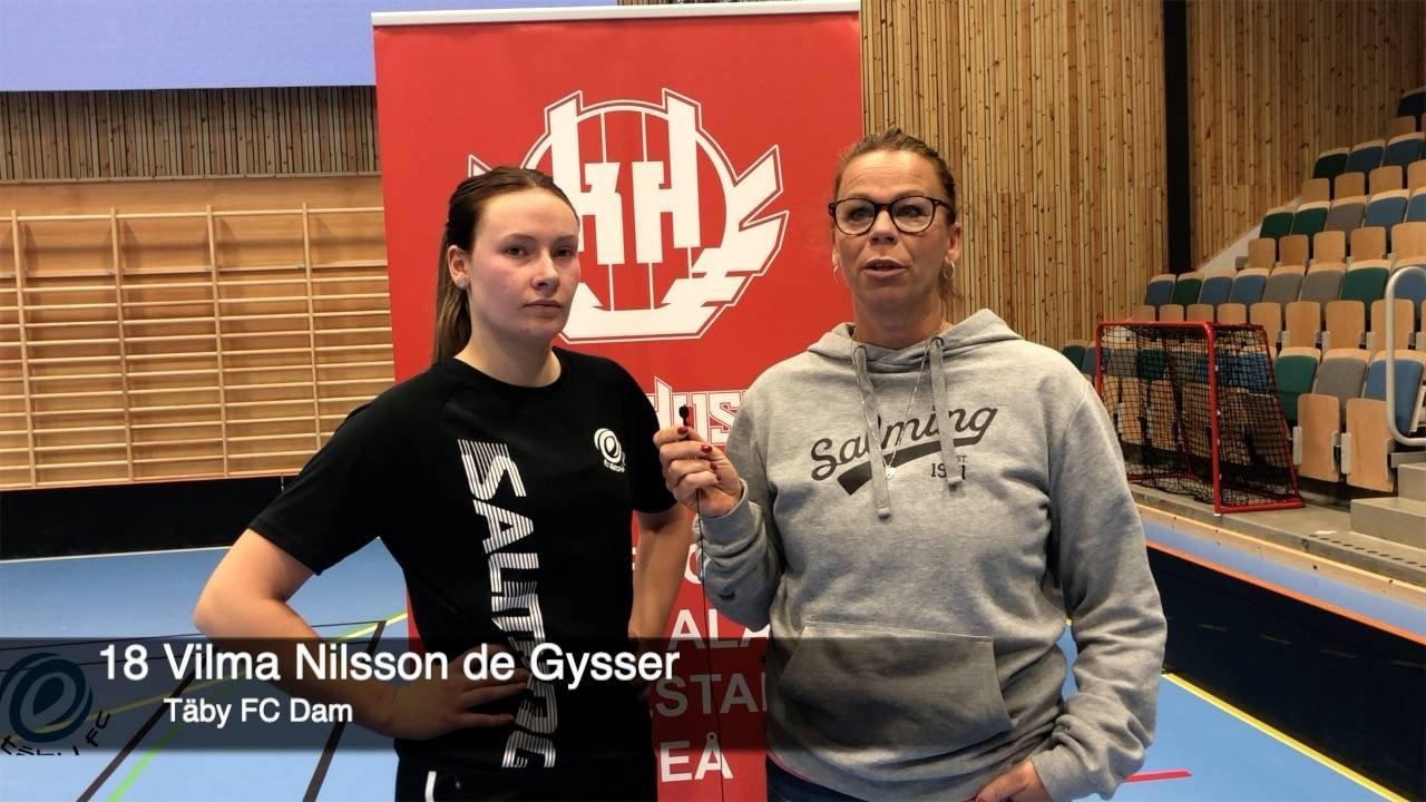 Intervju med Vilma de Gysser efter Falunmatchen
